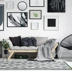decoration noir et blanc